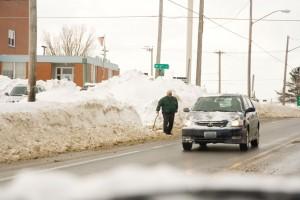 Snow Mounds Taller Than Man